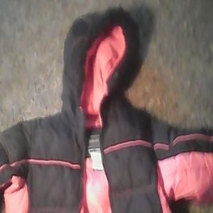 Girls pink and black coat